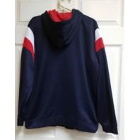 Reebok RBK NFL Red White Blue New England Patriots Full Zip Hoodie Jacket Size S