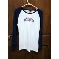 NFL Team Apparel New England Patriots Waffle Thermal L/S Shirt Women's Size L