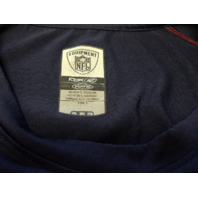 RBK Equipment NFL New England Patriots Navy Blue Shirt Size 2XL Football