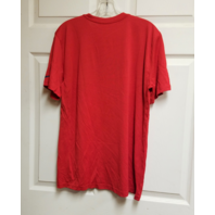 New England Patriots Red Graphic T-Shirt Tee Size L Large Dri-Fit NFL