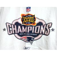 Reebok New England Patriots Super Bowl XXXVIII 38 Champions T-Shirt Size L NFL