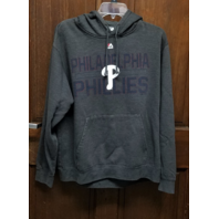 MAJESTIC Philadelphia Phillies Charcoal Gray Pullover Hoodie Jacket No Size