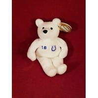 Salvino's Bammers Peyton Manning #18 White Beanie Plush Bear Indianapolis Colts