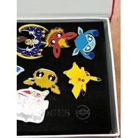 11 Pokemon Enamel Pins & League Badges Eevee Lunala Pikachu 2016 San Francisco
