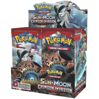 (1) Pokemon TCG Sun & Moon Crimson Invasion Booster Sealed 10 Card PACK English