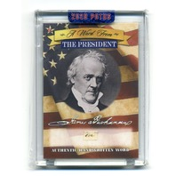 2020 A Word From The President James Buchanan Handwritten Word & Cleveland Relic