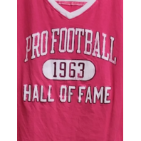 Camp David Pink & White Pro-Football Hall Of Fame T-Shirt Women's Size XL