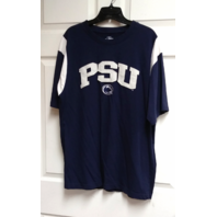Pro Edge Navy Blue White PSU Penn State Nittany Lions T-Shirt Size L NCAA