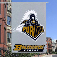 "Purdue University Boilermakers Outdoor House Flag Banner Gray 28"" x 40"""