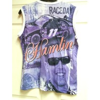 Chase Authentics NASCAR Denny Hamlin #11 Purple Sleeveless T-Shirt Womens Size L