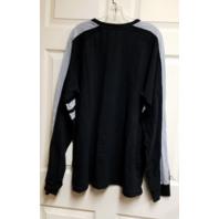 NFL Black & Gray Oakland Raiders Long Sleeve Shirt Men's Size 2XL XXL