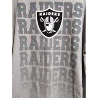 NFL Team Apparel Gray Oakland Raiders Graphic T-Shirt Men's Size XL Football