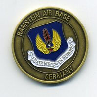 US Air Force USAF Ramstein Air Base Germany Challenge Coin 1.75""