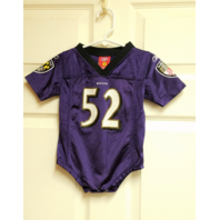 NFLPlayers Balitmore Ravens Ray Lewis #52 Infant Baby Bodysuit Size 12M