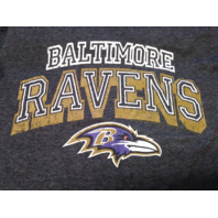 NFL Team Apparel  Charcoal Gray Baltimore Ravens T-Shirt Size XL Football