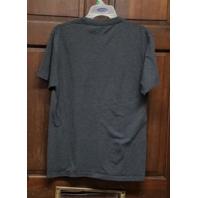 NFL Team Apparel Gray Baltimore Ravens T-Shirt Distressed Logo Men's Size M