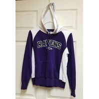 NFL Team Apparel Women's Baltimore Ravens Pullover Hoodie Size S Football