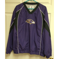 NFL Team Apparel Baltimore Ravens Purple Pullover Jacket Size XL Football