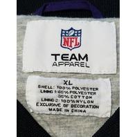 NFL Team Apparel Baltimore Ravens Purple Pullover Jacket Size XL Football