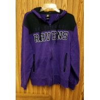 NFL Team Apparel Baltimore Ravens Purple Full Zip Hooded Jacket Size M