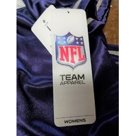 NFL Team Apparel Baltimore Ravens Purple Jersey Shirt Womens Size L NWT Football