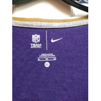 NFL Team Apparel Baltimore Ravens White & Purple Scoop V-Neck Shirt Sz XL