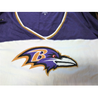 NFL Team Apparel Baltimore Ravens White & Purple Scoop V-Neck Shirt Sz XL