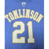 Reebok San Diego LA Chargers Tomlinson #21 Light Blue T-Shirt Size M NFL