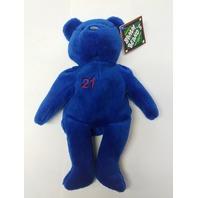 Salvino's Bamm Beano's Roger Clemens #21 Blue Beanie Plush Bear