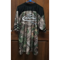Chase Authentics Team RealTree Racing Camo Jersey Style Shirt Men's Size L