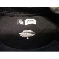 NFL Team Apparel Washington Redskins Black Sleeveless Muscle Shirt Sz L Football