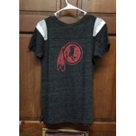 NFL Team Apparel Heathered Black Washington Redskins T-Shirt Women's Size L NWT