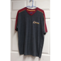 Washington Redskins Short Sleeve V-Neck Shirt Gray & Red Unbranded No Tags XL?