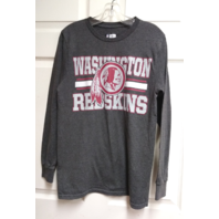 NFL Team Apparel Washington Redskins Charcoal Gray Long Sleeve Shirt Sz M