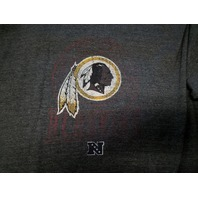 NFL Team Apparel Washington Redskins Charcoal Gray Graphic T-Shirt Size 3X 3XL