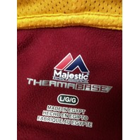 Majestic ThermaBase Washington Redskins Red Pullover Hoodie Jacket Size L