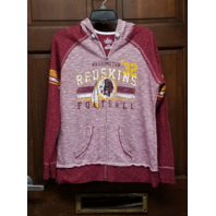 Majestic Fan Fashion Washington Redskins Womens Full Zip Up Hoodie Jacket Size L