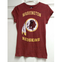 NFL Team Apparel Women's Washington Redskins Marled Red T-Shirt Size M Football