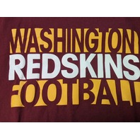 Reebok Washington Redskins Football Red Graphic T-Shirt Men's Size 2XL XXL NFL