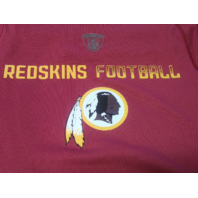 NFL Team Apparel Equipment Washington Redskins Red T-Shirt Sz S Football NEW NWT