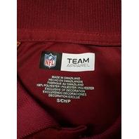 NFL Team Apparel Washington Redskins Red Polo Shirt Top Size S Football