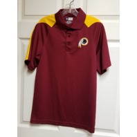 NFL Team Apparel Washington Redskins Red Polo Shirt Top Size S Football