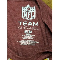 NFL Team Apparel Washington Redskins Football Red Graphic T-Shirt Men's Size M