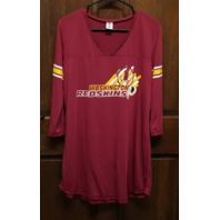 NFL Team Apparel Washington Redskins Women's Sleep Shirt Nightshirt Size L