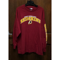 NFL Team Apparel Washington Redskins Red Long Sleeve T-Shirt Men's Size XL