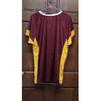Majestic Fan Fashion Red & Yellow Washington Redskins Shirt Women's Size XL 1X