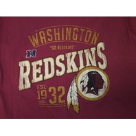 "NFL Team Apparel Washington ""Go Redskins"" Red T-Shirt Men's Size XL Football"