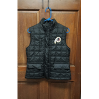 NFL Team Apparel Washington Redskins Black Quilted Vest Women's Size M