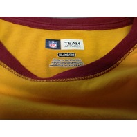NFL Team Apparel Washington Redskins Yellow & Red Long Sleeve T-Shirt Size XL