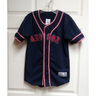 True Fan BOSTON RED SOX Jersey Navy Blue Youth Size M (8-10) MLB